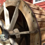 Close-up view of wheel at Grinnell Mill Bed & Breakfast, Yellow Springs, Ohio